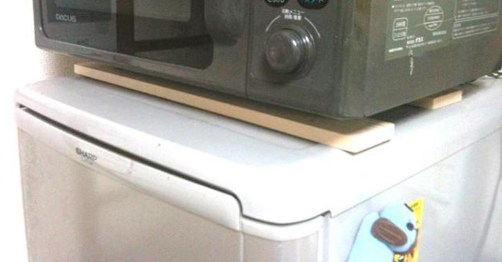 電子 冷蔵庫 に の レンジ 上